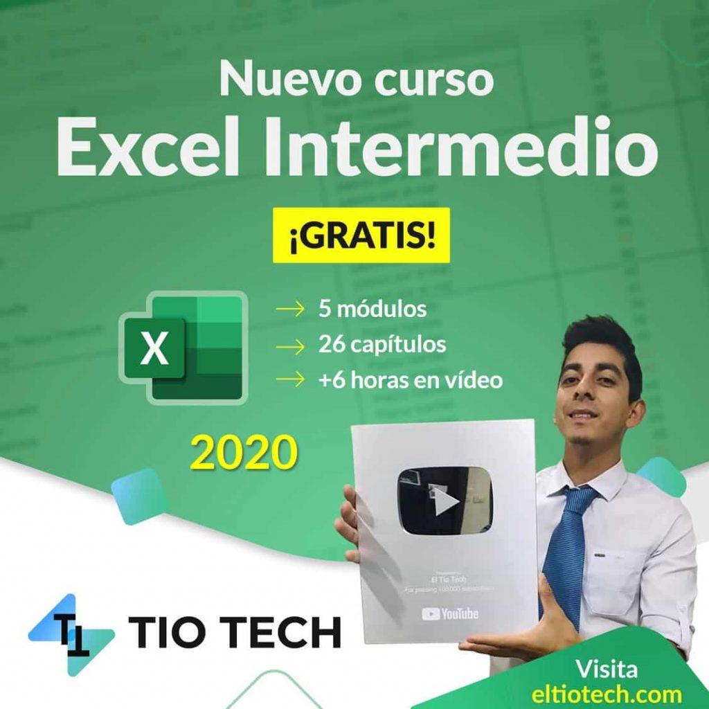 CURSO DE EXCEL INTERMEDIO GRATIS -EL TIO TECH