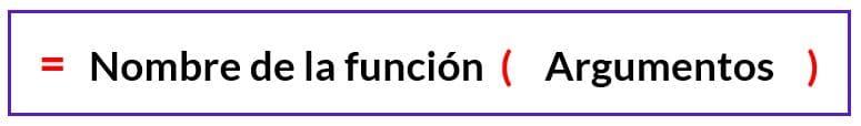 sintaxis de las funciones en excel