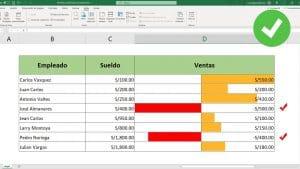 barras de datos en excel usando formato condicional