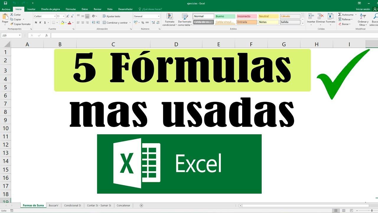 miniatura del tutorial 5 formulas más usadas en excel