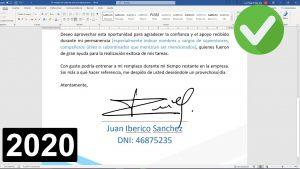 cómo hacer una firma digital en word