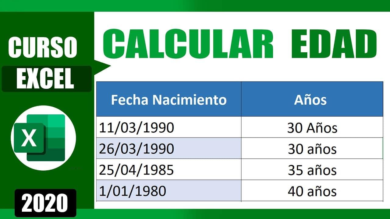 Cómo calcular la edad con la fecha de nacimiento en Excel