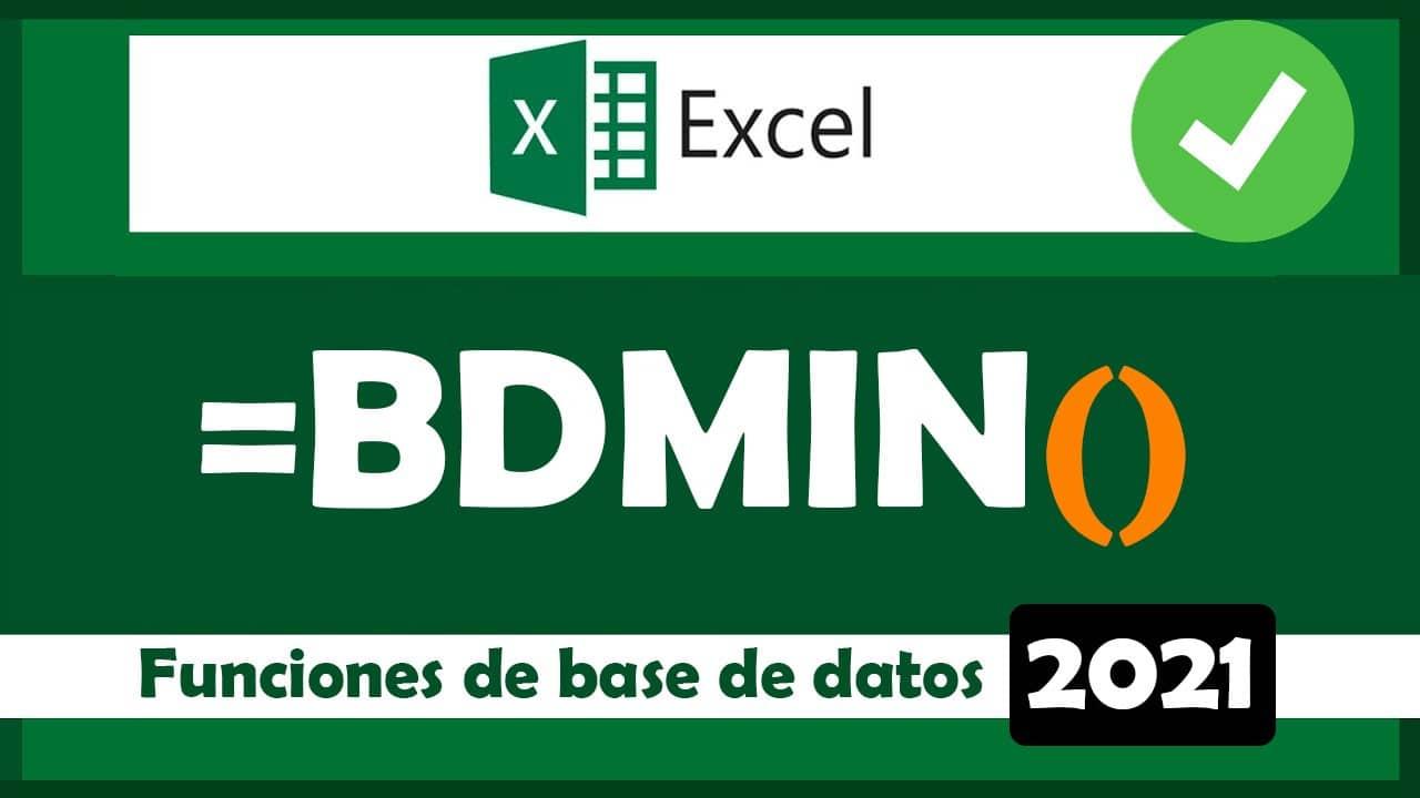 cómo usar la función bdmin en excel