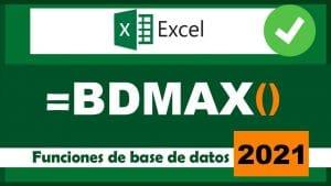 cómo usar la función bdmax en excel