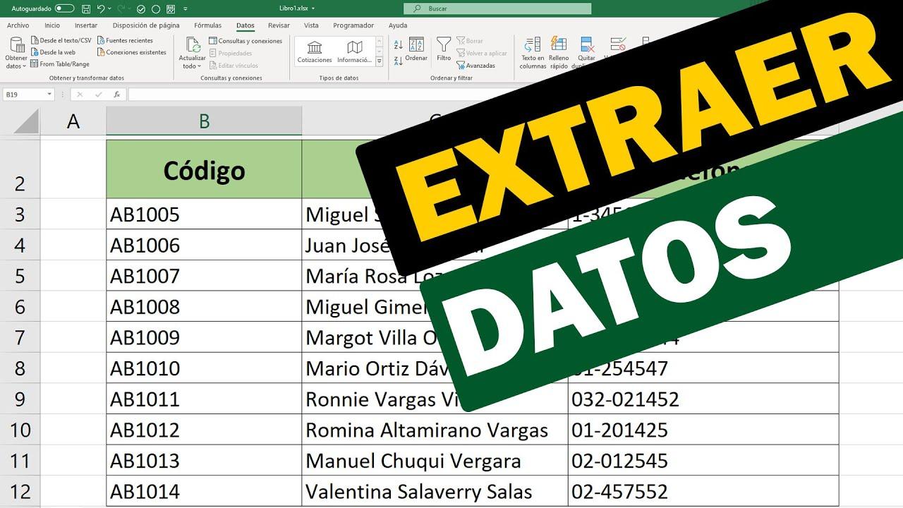 Cómo extraer datos de una celda en Excel