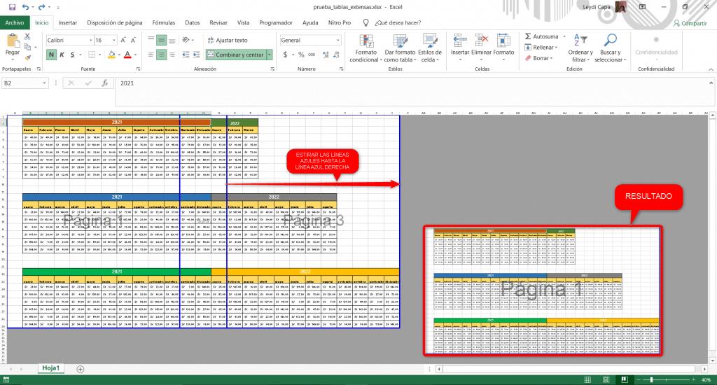 Imagen referencial de ajuste de página