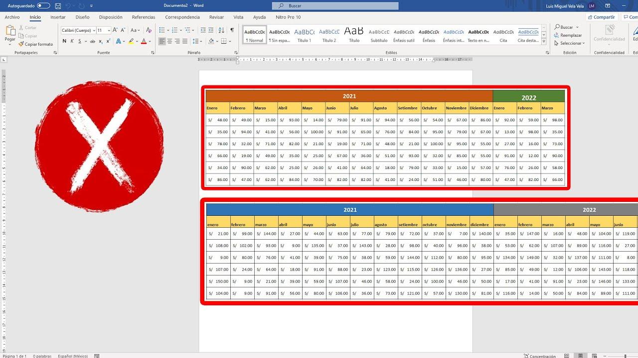 ¿Cómo insertar una tabla de Excel extensa a Word sin distorsionar?